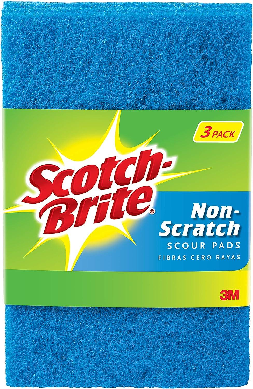 Scotch-Brite Non-Scratch Scour Pads, 3 Scour Pads, 0.152 Lb
