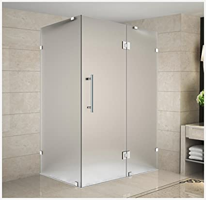 Aston Avalux Completely Frameless Shower Enclosure In Frosted Glass