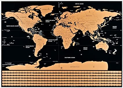 Amazon nicexx scratch off world map poster us states country nicexx scratch off world map poster us states country flags detailed cartography gumiabroncs Choice Image