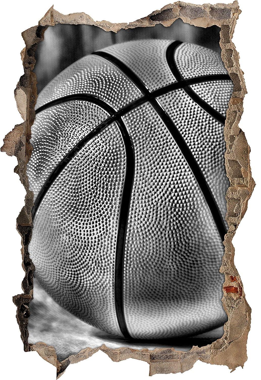 Monocrome, basket sfondo nerosvolta a muro in look 3D, parete o formato adesivo porta: 62x42cm, autoadesivi della parete, autoadesivo della parete, decorazione della parete Stil.Zeit