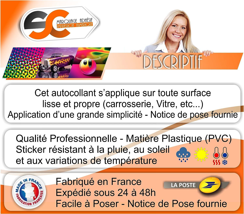 Sticker Durex Pas de b/éb/é /à Bord Autocollant Humour