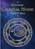 Celestial Moon Tarot Bag: Luxury Velvet Drawstring Tarot or Oracle Bag