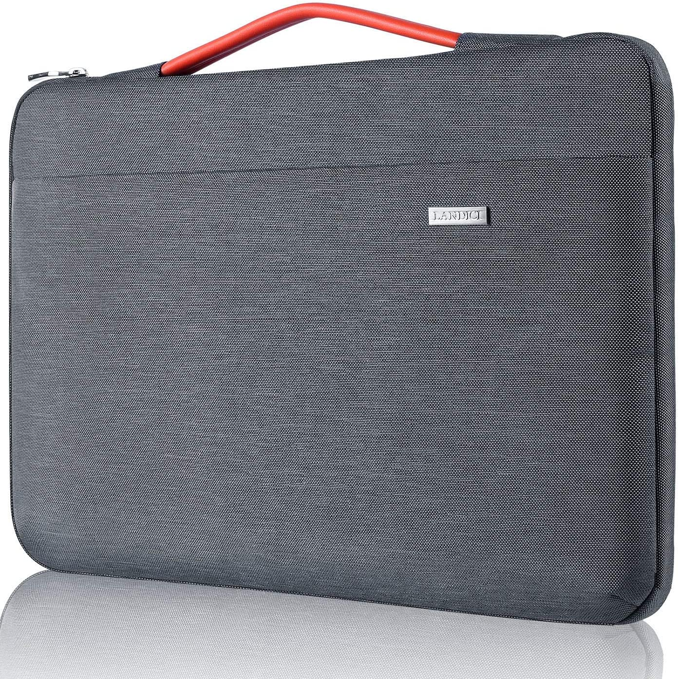 "Landici Laptop Sleeve 13-13.5 Inch Protective Carrying Case Bag Compatible with MacBook Air 13"" 2020,MacBook Pro,XPS 13,HP Chromebook Water Repellent Sleeve Cover with Pockets,Gray"