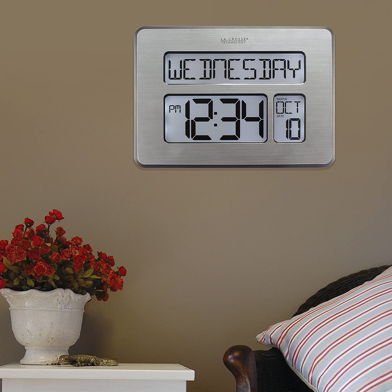 Amazon la crosse technology c86279 atomic full calendar clock amazon la crosse technology c86279 atomic full calendar clock with extra large digits perfect gift for the elderly home kitchen amipublicfo Image collections