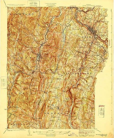 Topographic Map Vermont.Amazon Com Yellowmaps Barre Vt Topo Map 1 62500 Scale 15 X 15