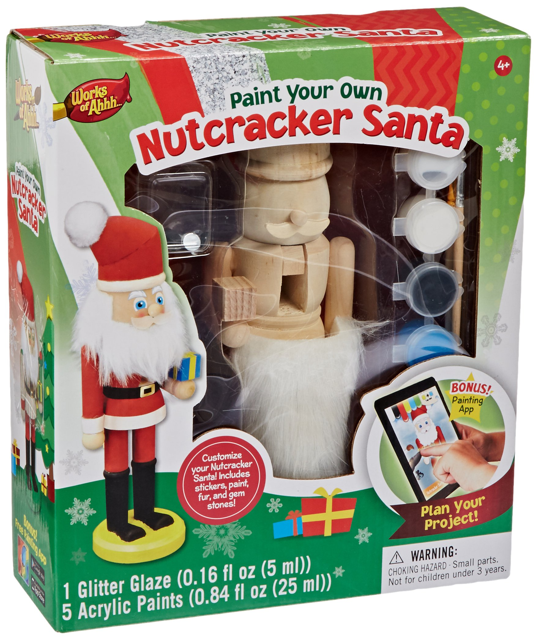 MasterPieces Works of Ahhh Nutcracker Santa Large Wood Paint Kit by MasterPieces