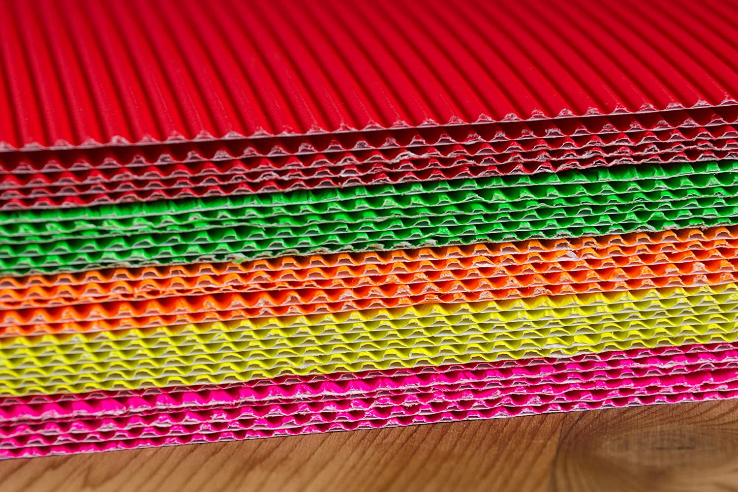 Cardboard Sheets Corrugated Sheets 30-Pack Corrugated Paper for Craft and DIY Projects Various Colors 8.25 x 11.75 Inches