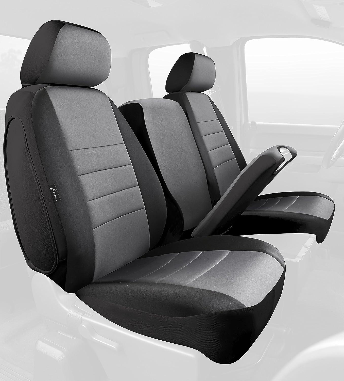 Black w//Gray Center Panel Neoprene FIA NP98-27 Gray Custom Fit Front Seat Cover Split Seat 40//20//40