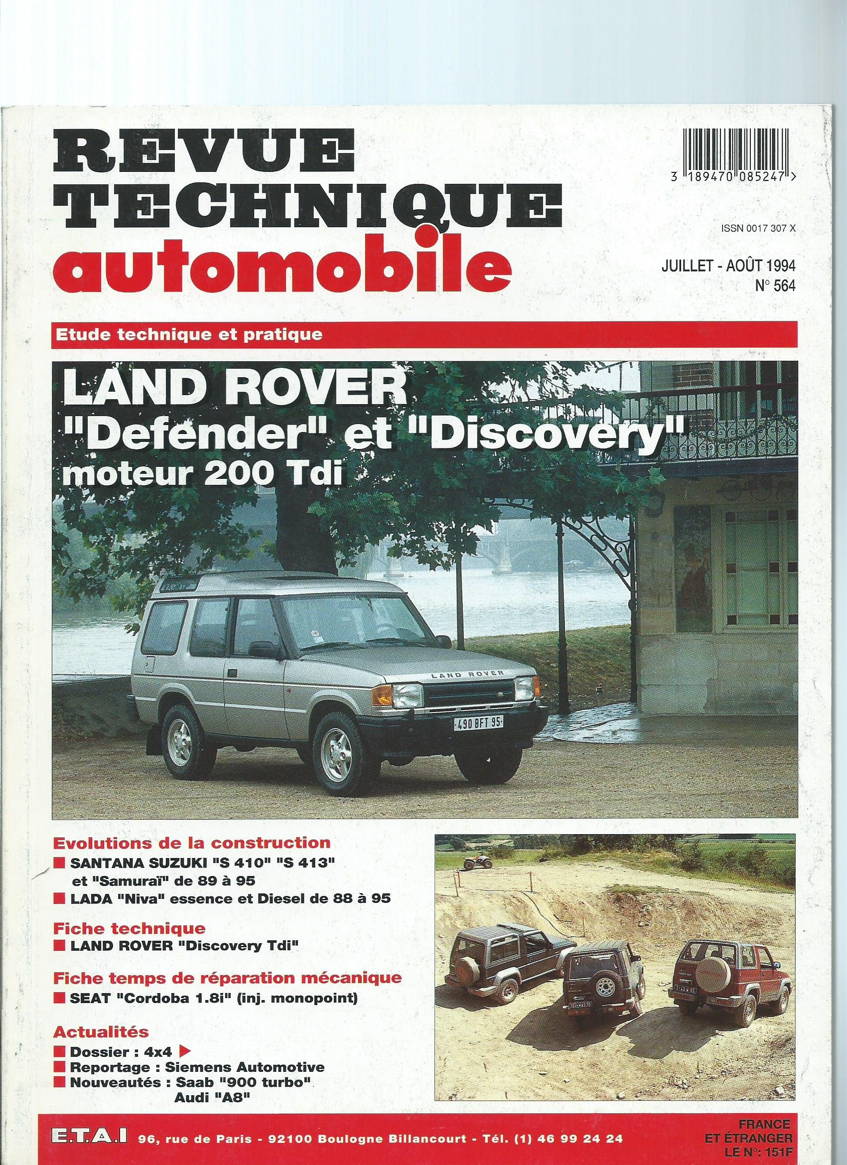 Revue technique automobile : Land rover, defender et discovery, moteur 200 tdi: Amazon.es: collectif: Libros
