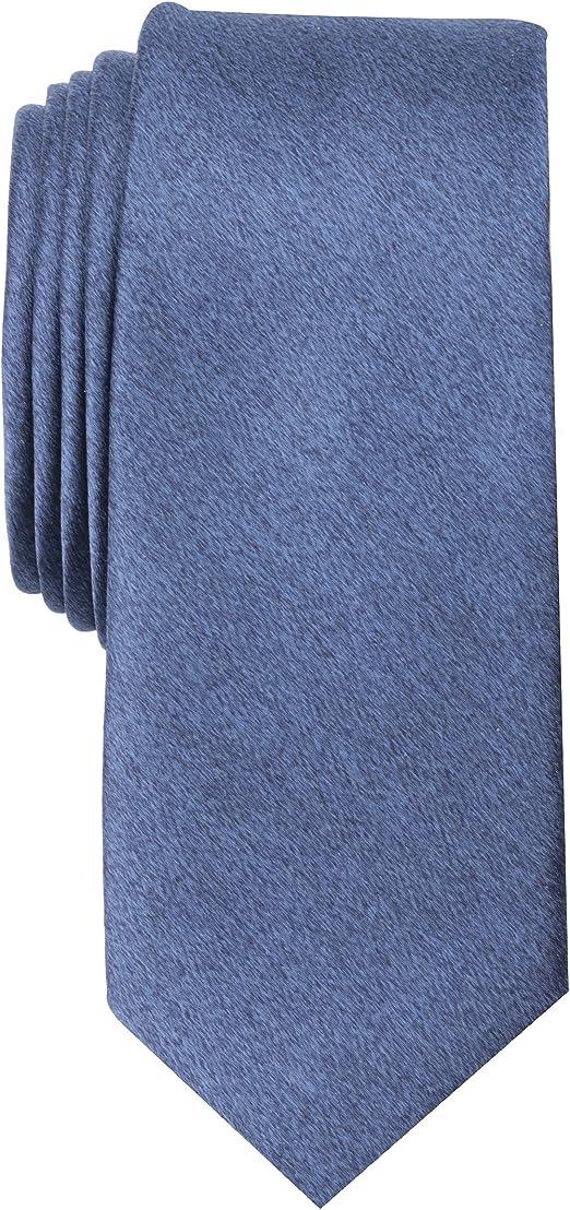 ORIGINAL PENGUIN mens Solid Satin Super Slim Tie