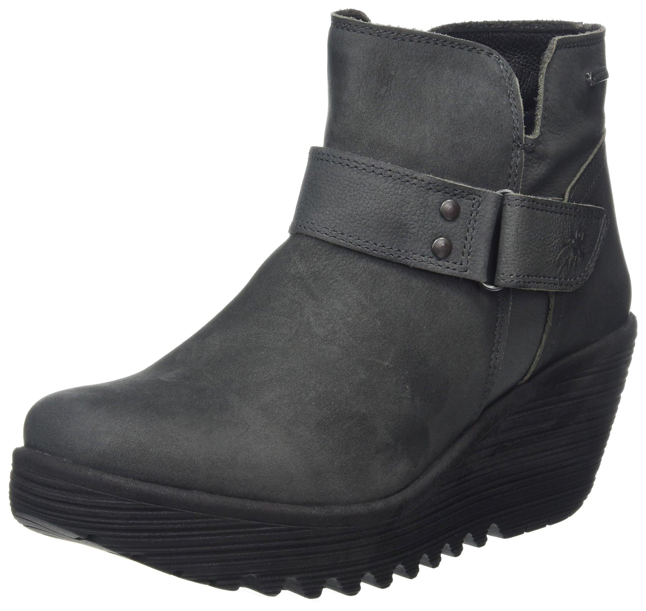 FLY London Womens Yock062Fly Mid Calf Grey Boot - 37
