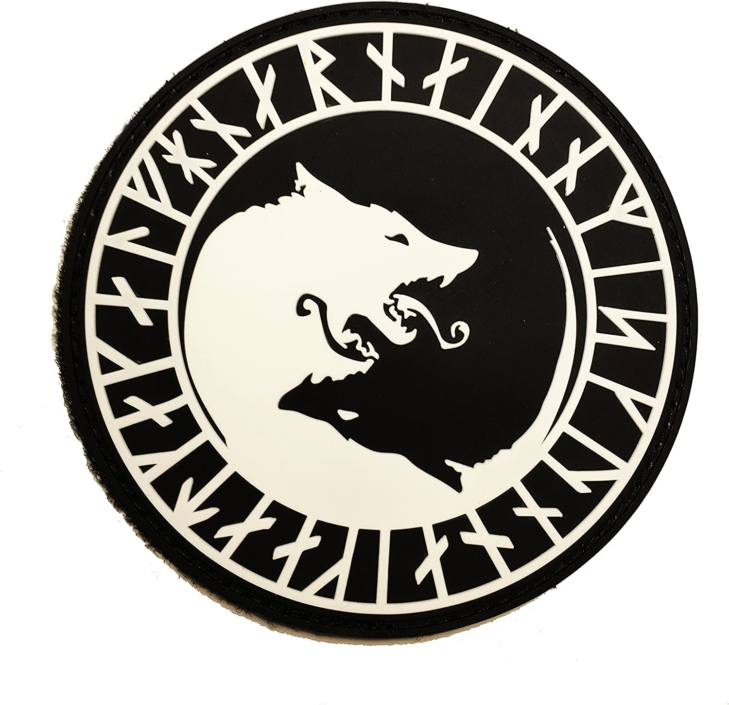 Amazon Com The Black Viking Berserker Ulfhednar No Mercy Only Violence Wolf Rune Pvc 3 5 Tactical Morale Patch Hook Loop Arts Crafts Sewing
