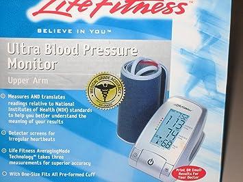 Amazon.com: Life Fitness Ultra Blood Pressure Monitor ...
