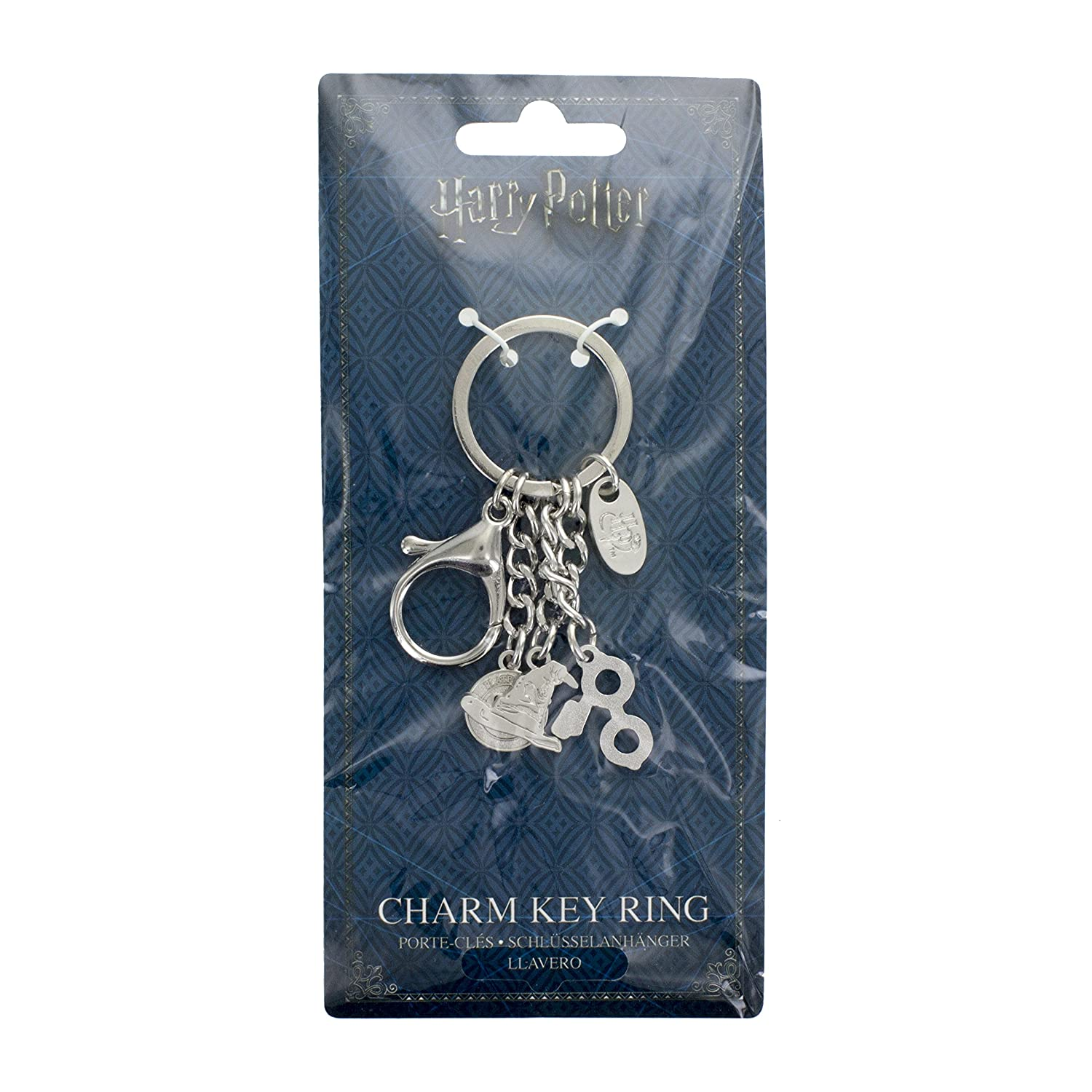 Paladone Harry Potter Charm Keyring Novelty Keychain - Glasses, Sorting Hat, 9 3/4 Charms