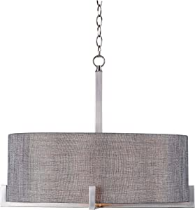 Kenroy Home Casual 4 Light Pendant ,16 Inch Height, 21 Inch Diameter with Brushed Steel Finish