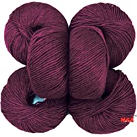 Vardhman Acrylic Knitting Wool, Pack of 6 (Magenta) Baby Soft Wool Ball Hand Knitting Wool/Art Craft Soft Fingering Crochet Hook Yarn, Needle Knitting Yarn Thread dye