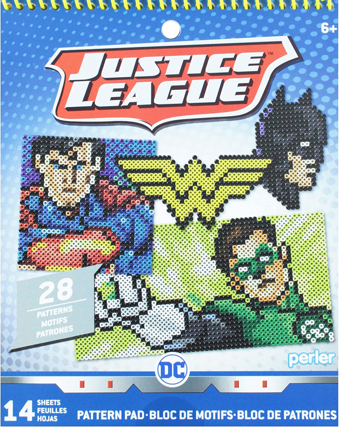 Perler Beads DC Justice League Fuse Bead Pattern Pad 28 Patterns