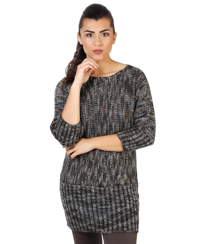 222cbd60a1 on sale KRISP Jersey Mujer Largo de Punto Invierno Manga Murciélago Túnica  Vestido