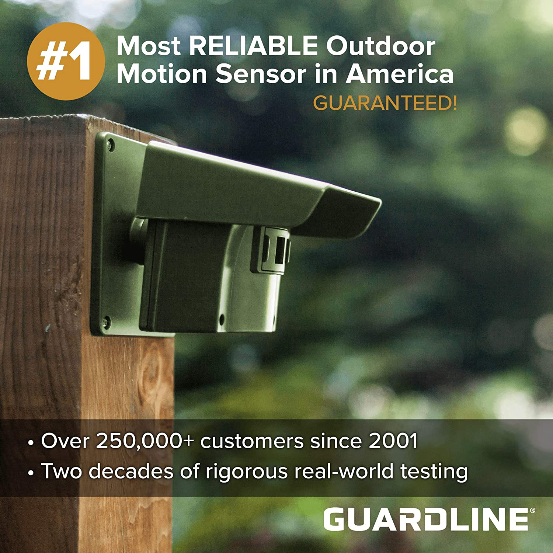 Guardline Wireless Driveway Alarm Outdoor Weather Resistant Motion Sensor &  Detector- Best DIY Security Alert System- Stay Safe & Protect Home,
