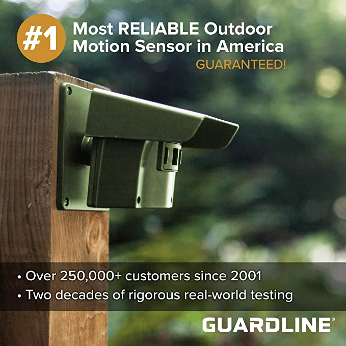Guardline Wireless Driveway Alarm Outdoor Weather Resistant Motion Sensor & Detector- Best DIY Security Alert System- Stay Safe & Protect Home, ...