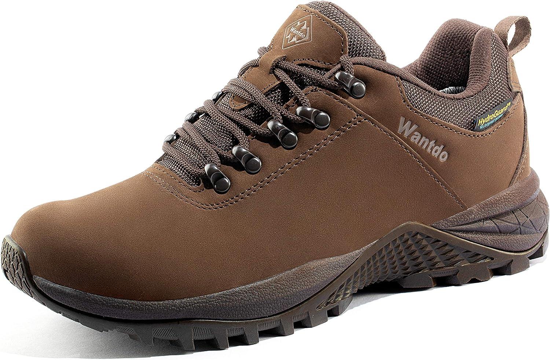 Wantdo Women's Waterproof Hiking Shoe Hydroguard Hiking Boots for Outdoor Trekking Backpacking Mountaineering