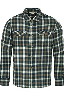 883de31de3 Mountain Warehouse Trace Mens Flannel Long Sleeve Shirt - 100% Cotton  Checks Shirt,…