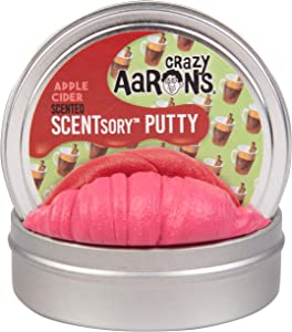 "Crazy Aaron's Thinking Putty Holiday Scented 2.75"" Tin (1.2 oz) - Holiday (Christmas) Edition - Ciderlicious - Never Dries Out"