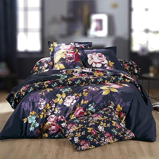Linnea Sábana encimera 280 x 310 cm, 100% algodón, Color Morado: Amazon.es: Hogar