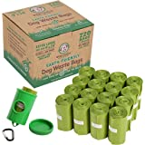 Wise Choice Poop Bags Dog Waste Bags, Extra Large, Earth Friendly, Leak-Proof, Unscented, Green, 720 bags/48 Rolls with Dispenser and Leash Clip, for Dog & Cat Litter Box