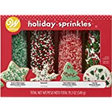 Wilton Traditional Mix Holiday Sprinkles Mega Set of 4, 19.3 oz