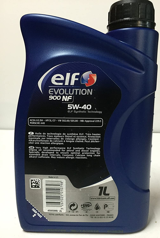 Elf - Lubricante Motor Evolution nf 5w40 1 litro: Amazon.es: Coche y moto