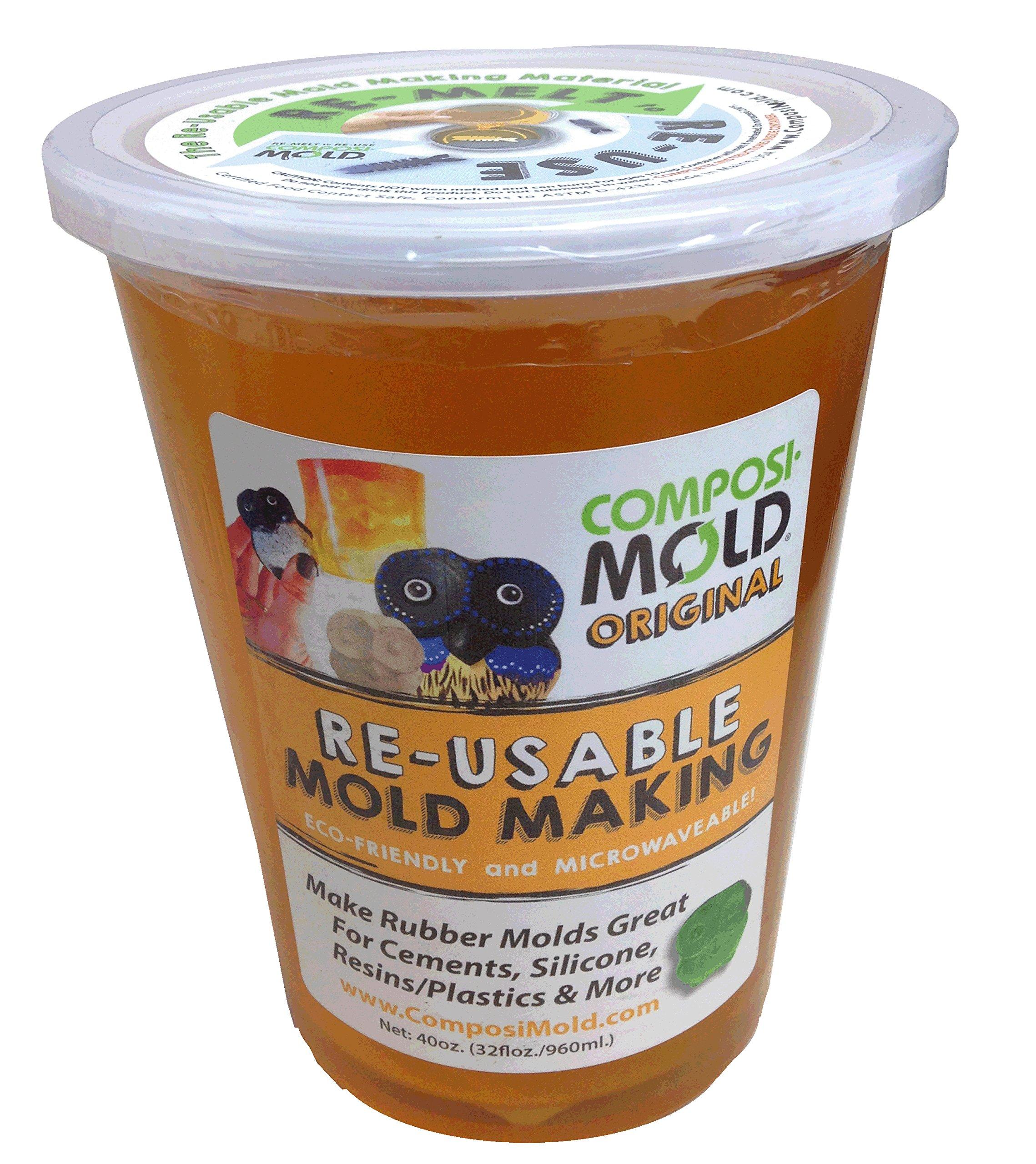 ComposiMold (Original) 40oz. Reusable Molding Material, re-heat to re-use!