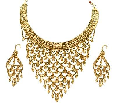 b75f299f9def4 Amazon.com: Jwellmart Gold plated Traditional Filigree Design ...