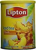 Lipton Summer Peach Sugar Sweetened Iced Tea Mix - One 26.8 Ounce Container