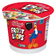 Kellogg's Froot Loops, Breakfast Cereal in a Cup, Low Fat, Bulk Size, 1.5 Oz, Pack of 12
