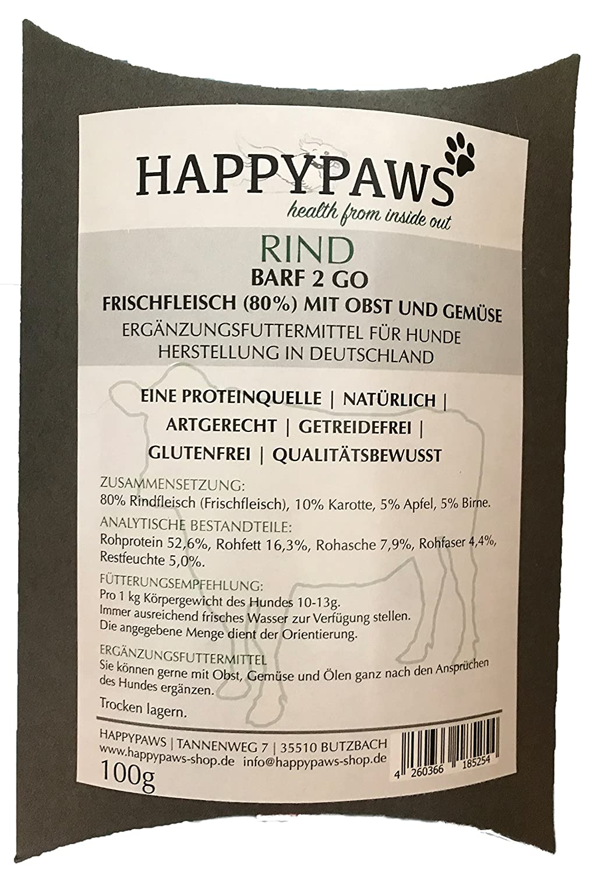 happypaws barf 2 Go vacuno | sin cereales | sin gluten ...