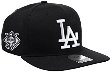 super popular 7e8f8 c81e7  47 MLB Los Angeles Dodgers Sure Shot Captain Wool Adjustable Hat (Black,  One