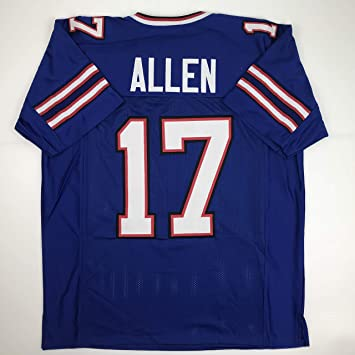 huge selection of 6f720 b25ff Unsigned Josh Allen Buffalo Blue Custom Stitched Football Jersey Size Men's  XL New No Brands/Logos