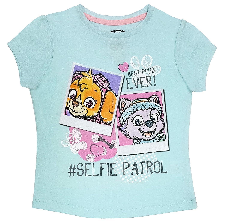 Nickelodeon JR Paw Patrol - Toddler Girl's Patrol Short Sleeve T-Shirt, Light Blue NTD Apparel