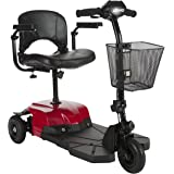 Drive Medical Bobcat X3 Compact Transportable Power Mobility Scooter, 3 Wheel, Red