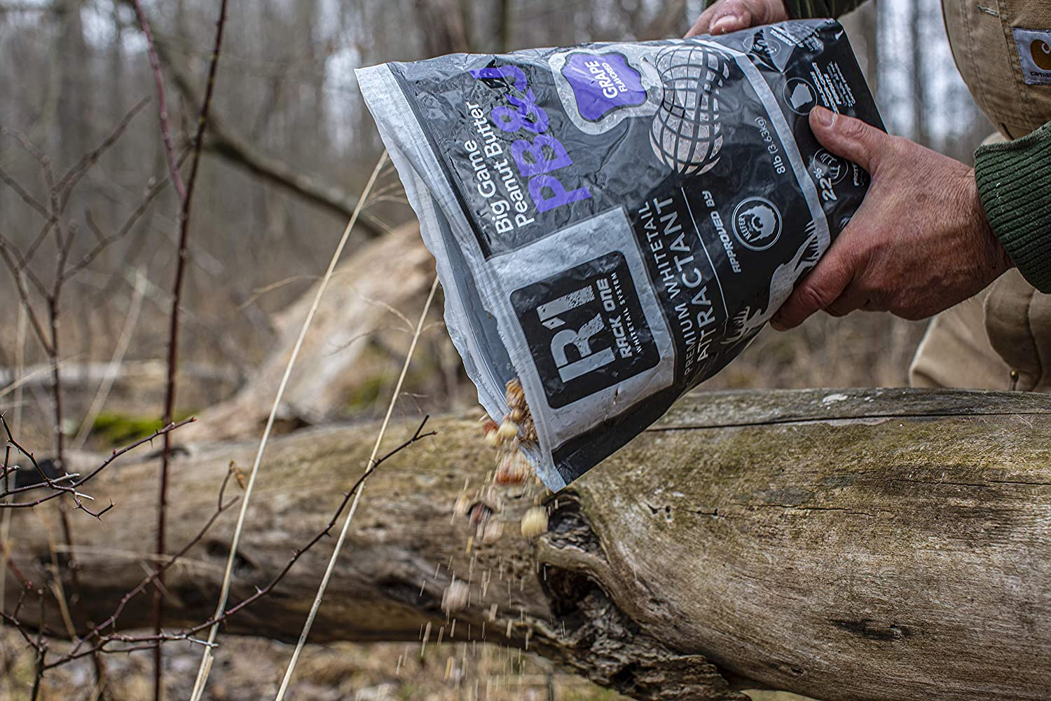 Grape Flavor 5 Lb Bags 3 Pack Deer Feed Protein Supplement 100/% Shelled Peanuts Rack One Big Game Peanut Butter Premium Whitetail Deer Attractant Works as Bear /& Hog Attractant