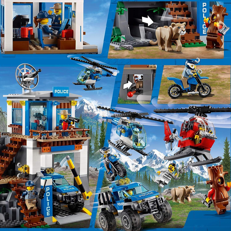 officer female dark blue hat 60174 cty869 Lego mountain police