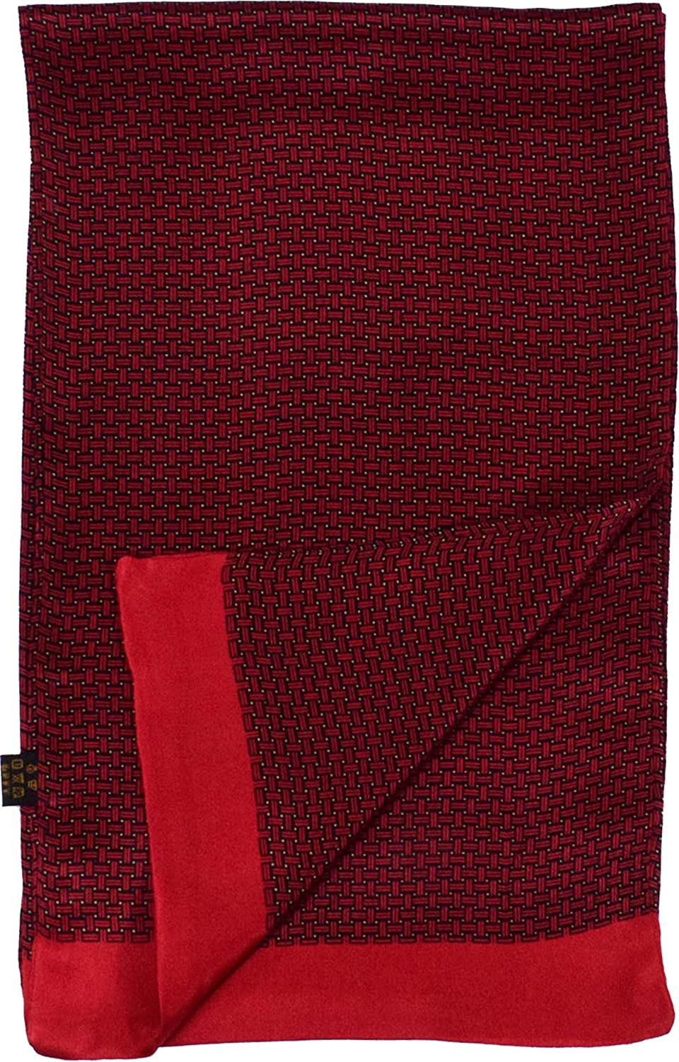 Red Weave Printed Double Layer Long Silk Scarf