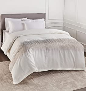 Vouchere Home Etched Duvets, Full/Queen, Ivory