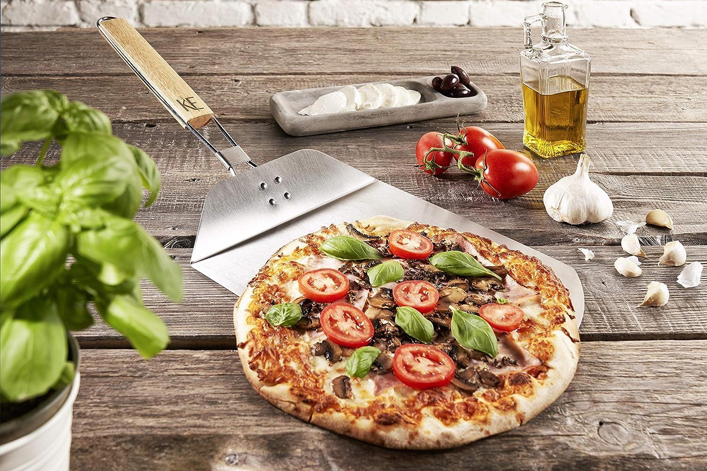 Pizza Peel Plegable Acero Inoxidable con Mango De Madera: Amazon ...