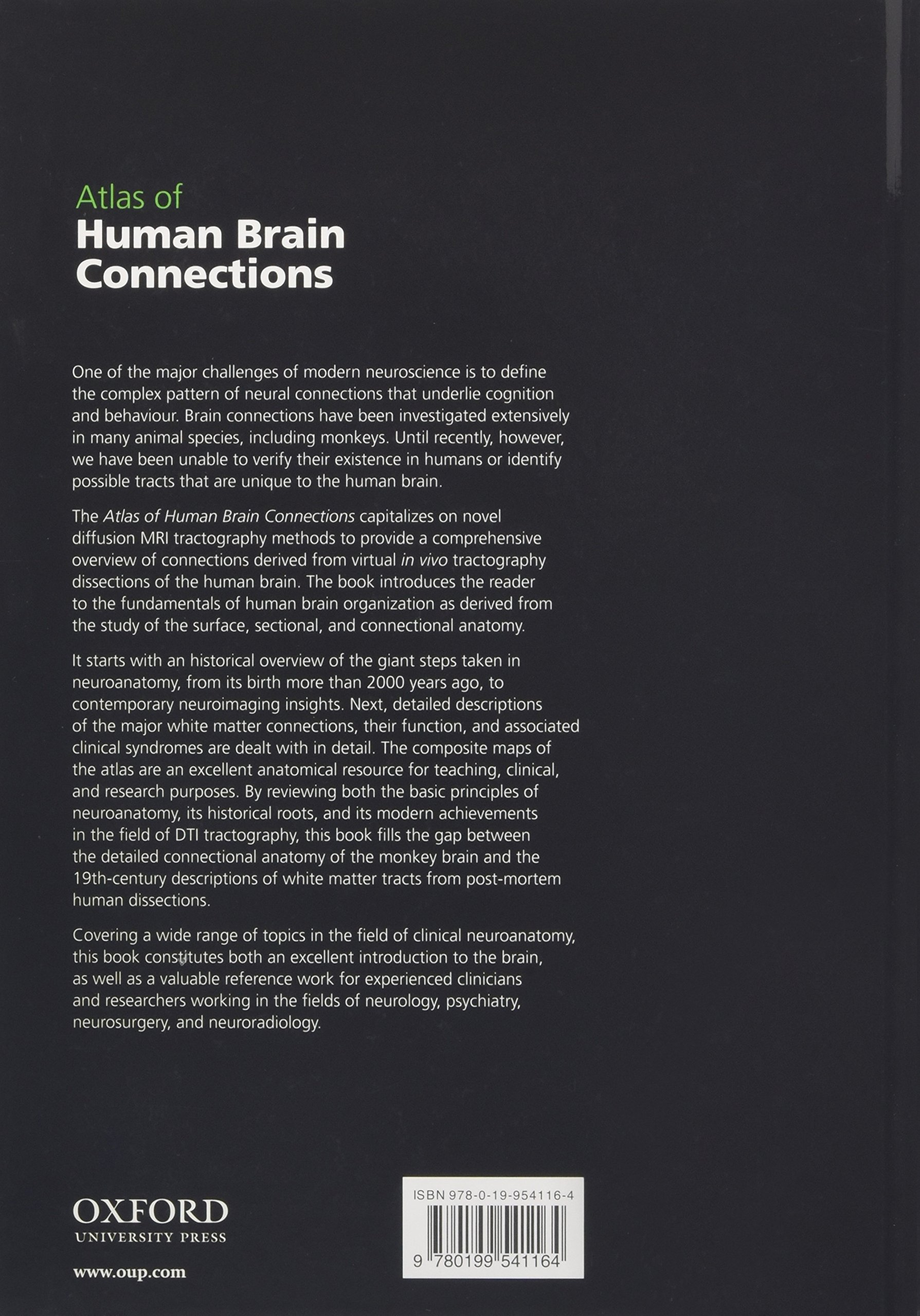 Atlas Of Human Brain Connections Amazon Marco Catani Michael