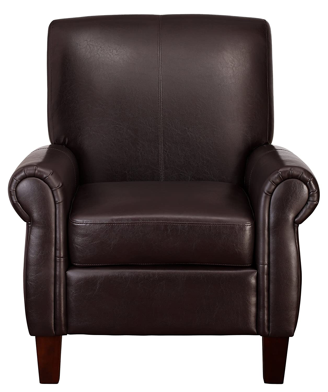 Amazon.com: Dorel Living Elegant Faux Leather Club Chair: Kitchen U0026 Dining