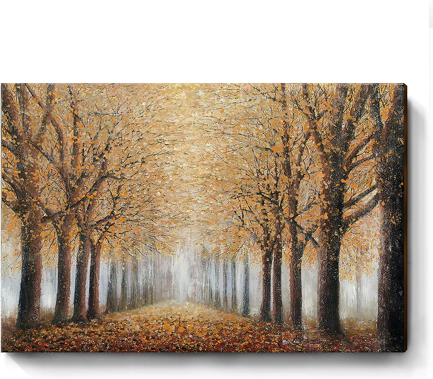 Autumn Forest Canvac Art Oil Painting Nature Canvas Wall Art Trees Wall Art Autumn Forest Oil Painting Trees Wall Decor Oil Trees Wall Decor