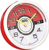セイコー クロック 目覚まし時計 ポケットモンスター サン&ムーン ELバックライト  アナログ 赤 メタリック CQ420R SEIKO CQ420R