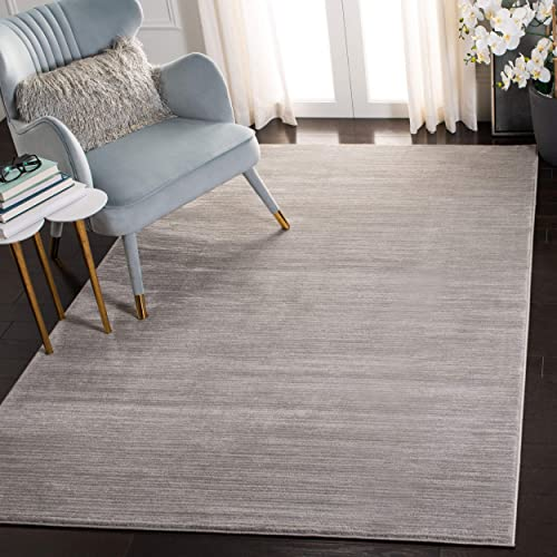 Safavieh Vision Collection VSN606G Modern Contemporary Ombre Chic Area Rug, 3 x 5 , Silver
